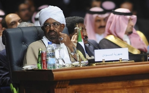 Sudan's President Omar Hassan al-Bashir attends the opening meeting of the Arab Summit in Sharm el-Sheikh