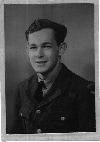 Image: Mr. Salz in 1943, in his Royal Air Force uniform