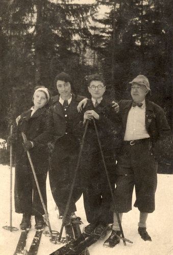 Image: Hanna Slome, left, with her mother, brother and father in the Tatra Mountains in 1935.Credit Hanna Slome