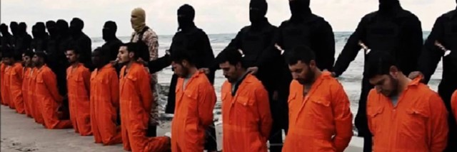 ISIS executes Christians in April 2015. (Screenshot)