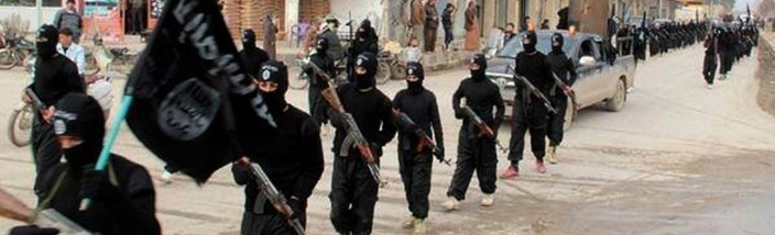 FILE - This undated file image posted on a militant website on Tuesday, Jan. 14, 2014, which has been verified and is consistent with other AP reporting, shows fighters from the al-Qaida linked Islamic State of Iraq and the Levant (ISIL) marching in Raqqa, Syria. Across the broad swath of territory it controls from northern Syria through northern and western Iraq, the extremist group known as the Islamic State has proven to be highly organized governors. (AP Photo/Militant Website, File)           NYTCREDIT: Uncredited/Militant Website, via Associated Press